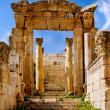 Ancient arch of Artemis Temple — Stock Photo