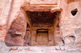 Fragment of Palace Tomb in Petra — Stock Photo