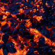 Glowing coals — Stock Photo