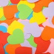 Multicolored paper hearts — Stock Photo