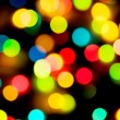 Multicolored holiday lighs — Stock Photo
