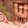 The Treasury. Ancient city of Petra — 图库照片