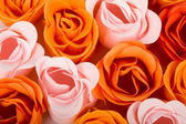 Soap foam roses background — Stock Photo