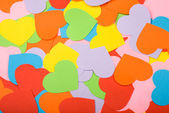 Multicolored paper hearts — Stock fotografie