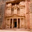 The Treasury. Ancient city of Petra — Stock Photo