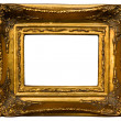 Stock Photo: Retro gold frame isolated