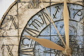 Clock face close-up — Stock Photo
