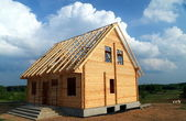 New wooden house — Stock Photo