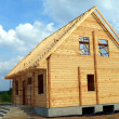 Stock Photo: New wooden house