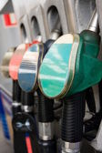 Gas pump nozzles — Stock Photo