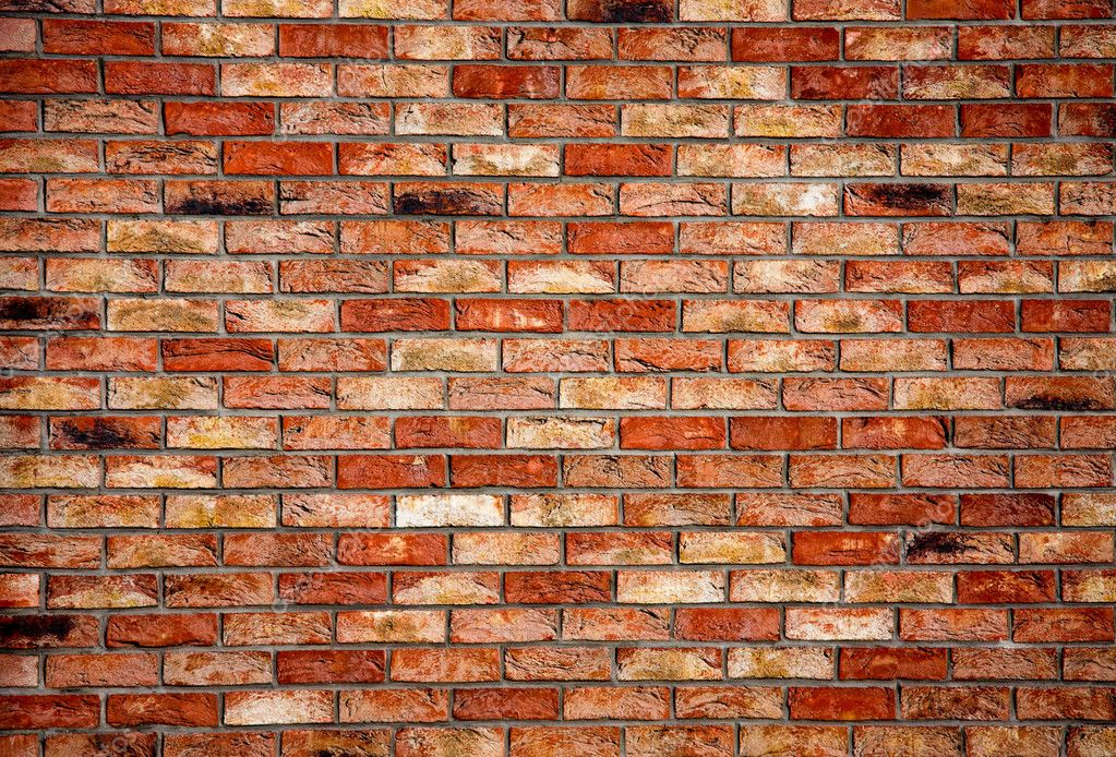 Red brick wall - architectural texture background  Stock Photo #1755224