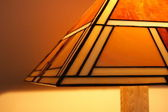 Stained glass lamp close-up — Stock Photo