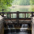 Small dam on river — Stock Photo