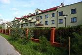 Row of similar houses — Stock Photo