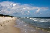 Windy sea shore in spring — Stock Photo
