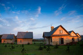 Group of wooden houses — Stockfoto