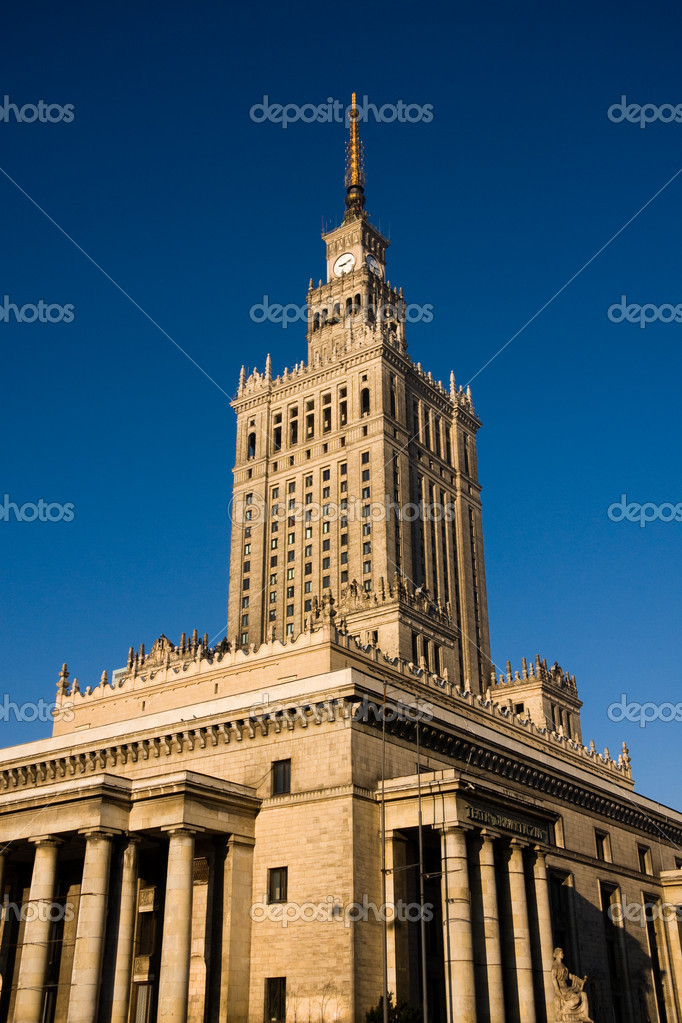 Palace of Culture and Science in Warsaw, Poland — Stock Photo #2044797