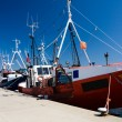 Fishing ships in dock — Stock Photo