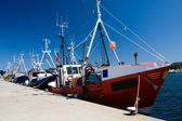 Fishing ships in dock — Stock Photo