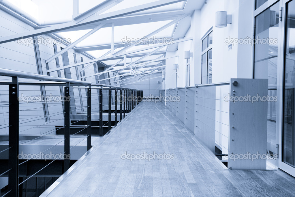 Empty corridor in modern office building — Stock Photo #2361834