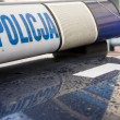 Stock Photo: Polish police car sign