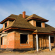 Stock Photo: New house under construction
