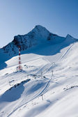 Ski slope in high alps — Stock Photo