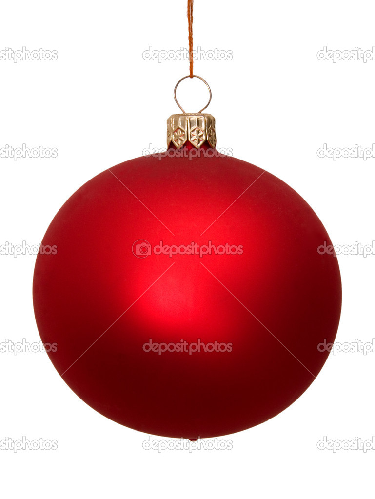 Blue christmas ball isolated on white background — Stock Photo #2526928