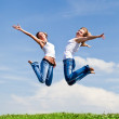 High jumps — Stock Photo
