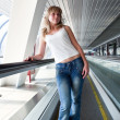On the escalator - Stock Photo