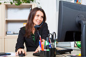 Woman on work — Stock Photo