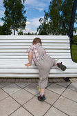 High bench — Stock Photo
