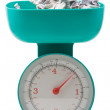 Stock Photo: Weight of money