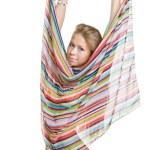 Striped beach scarf — Stock Photo #1756287