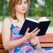 Girl reads — Stock Photo