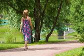 走进公园 — 图库照片