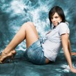 Stock fotografie: Beautiful girl poses 3