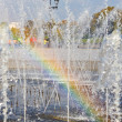 Royalty-Free Stock Photo: Rainbow in a fountain