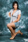 Krásná dívka pózy 2 — Stock fotografie