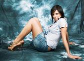 美しい少女ポーズ 3 — ストック写真