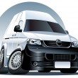 Royalty-Free Stock Imagen vectorial: Vector cartoon delivery van