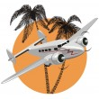 Royalty-Free Stock Vector Image: Cartoon retro airplane