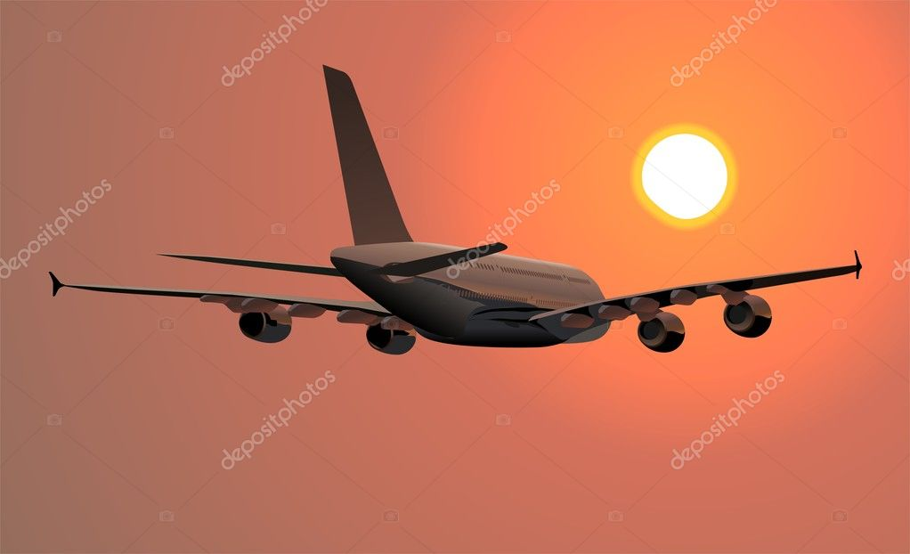 Detailed vector illustration A380 passenger jetliner. — Stock Vector #1718814