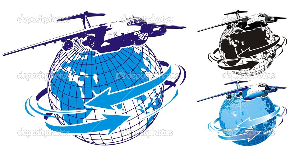 Vector detailed illustration commercial freighter stylized as a logo.  Stock Vector #1719936