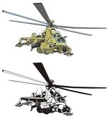 Vector cartoon helicopter — Stock Vector