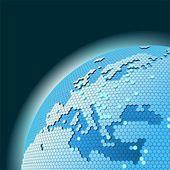 Vector cellular network theme — Stock Vector