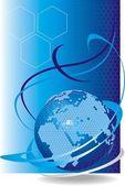 Rete cellulare globale del vettore — Vettoriale Stock