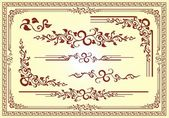 Vector floral frame ornament — Stockvector