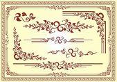 Vector Floral Frame Ornament — Stock Vector
