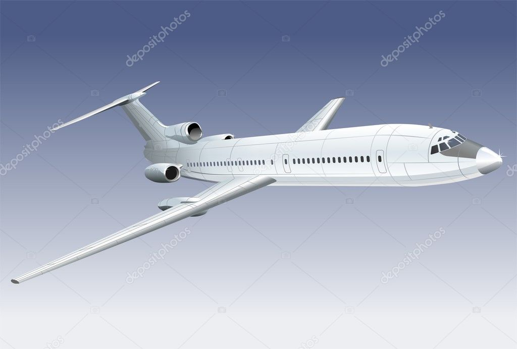 Vector illustration passenger jet  — Vektorgrafik #1720670